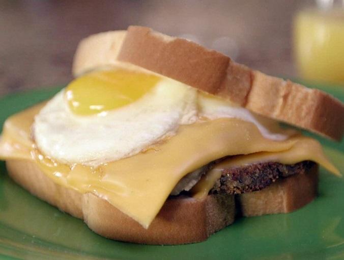 Fried Egg & Scrapple Sandwich