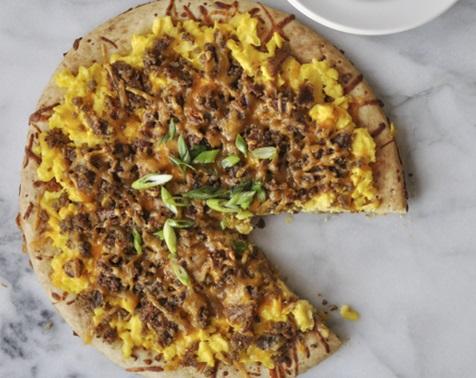 Scrapple Breakfast Pizza