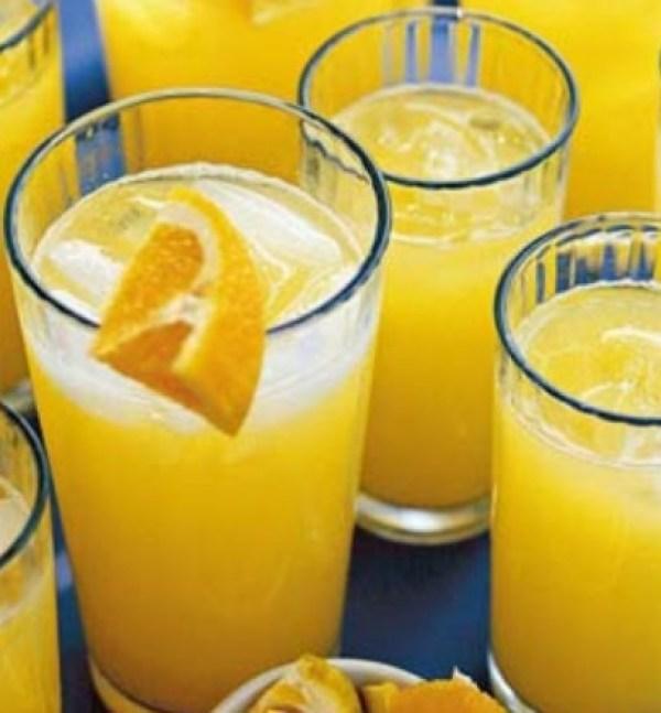 Homemade Orange Fizzy Drink