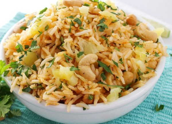 Coconut & Pineapple Cashew Rice