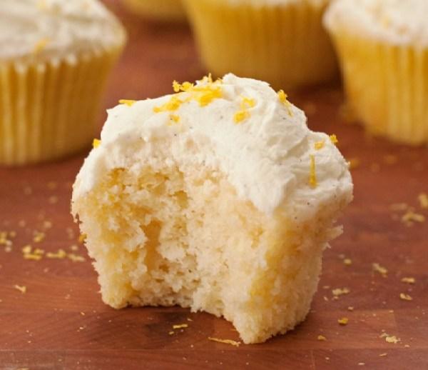Lemony Vanilla Cupcakes