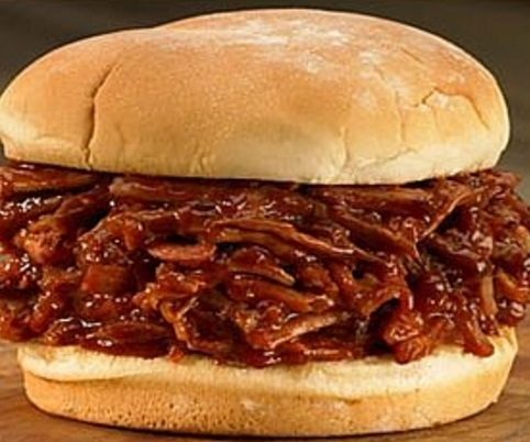 World's Pulled Pork Sandwich