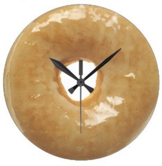 Doughnut Kitchen Clock