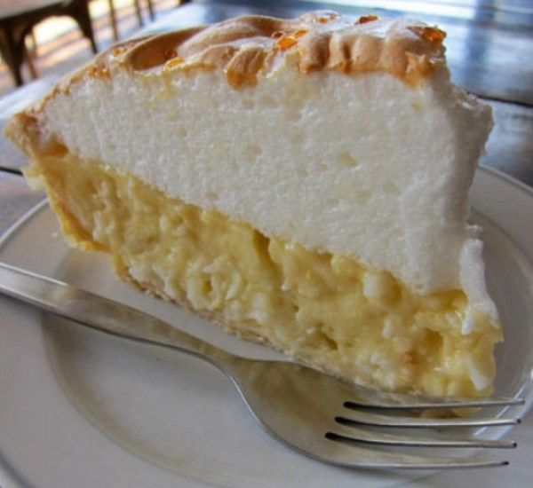 Coconut Bavarian Cream Pie