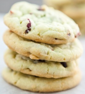 Cranberry & Pistachio Pudding Cookies
