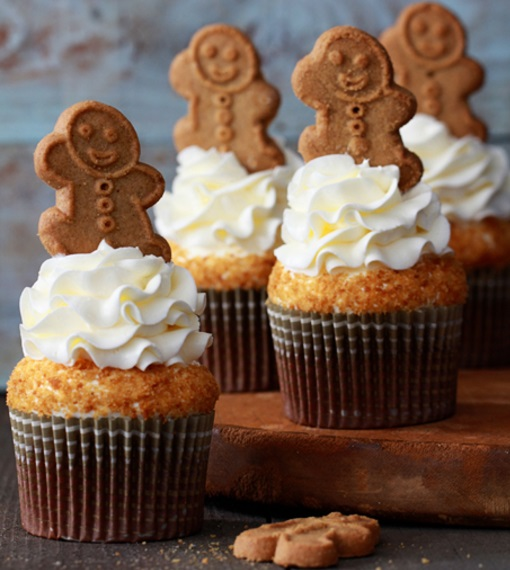 Gingerbread Latte Christmas Cupcakes