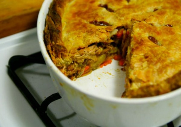 Rabbit, Prune, and Onion Pie