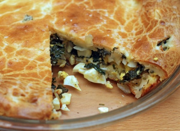 Kale and Onion Pie