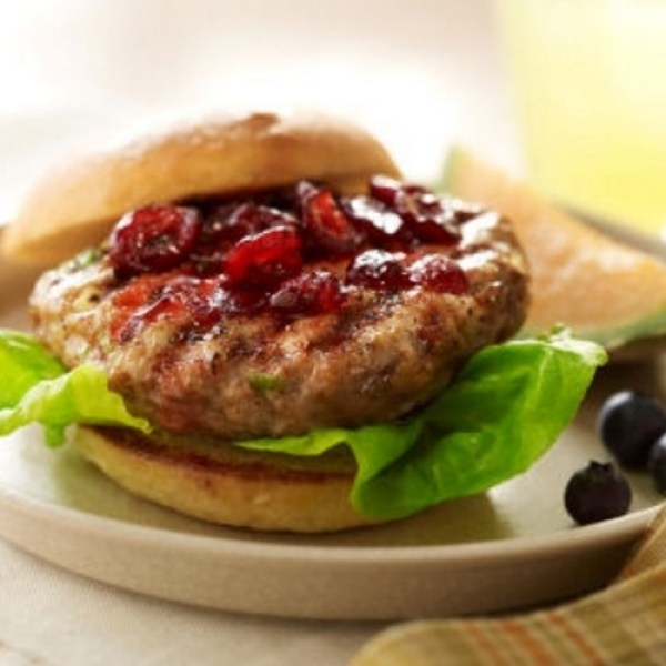 Christmas Cranberry & Chicken Burgers