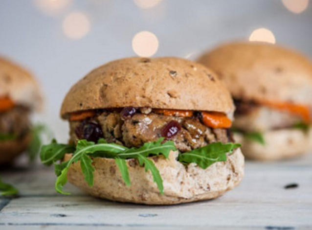 Festive Pork And Cranberry Burgers