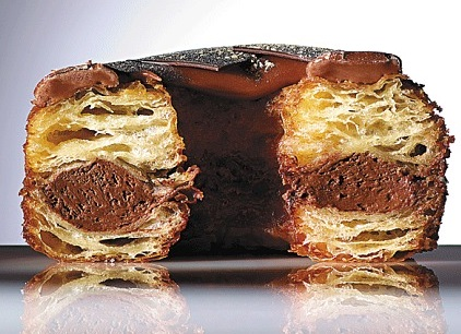 Chocolate Champagne Puff Pastry Donuts