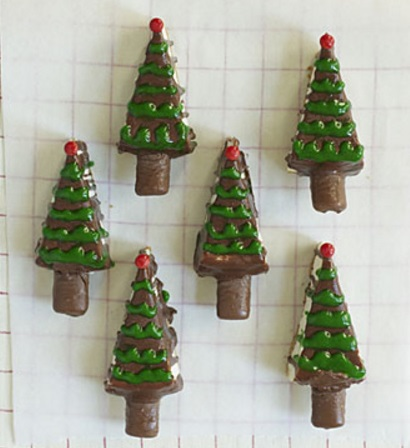 Chocolate Covered Cheesecake Christmas Trees