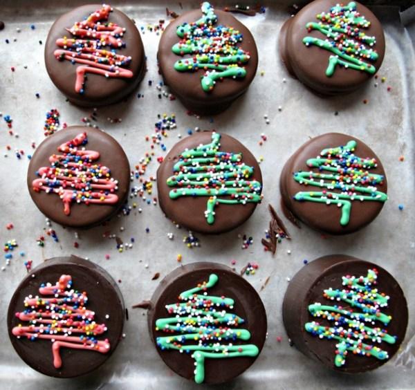Chocolate Covered Oero Christmas Trees