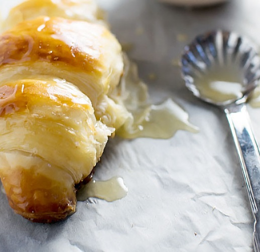 Honey Butter Drizzled Croissants