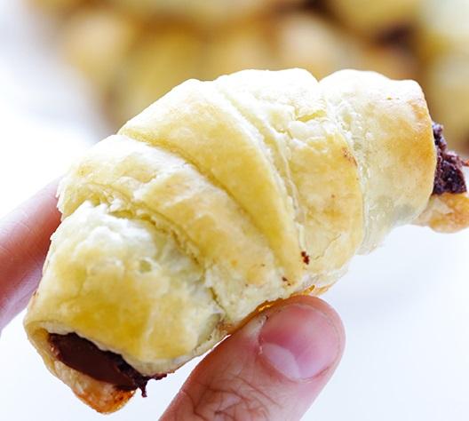 Nutella Filled Croissants