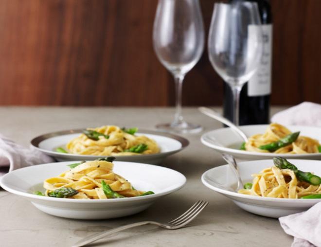 Asparagus Fettuccine Alfredo
