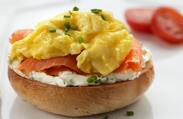 Bagel and Lox With Scrambled Egg