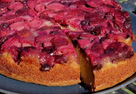 Plum & Blueberry Upside Down Cake