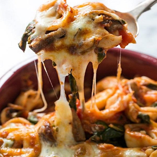 Cheesy Tortellini Casserole
