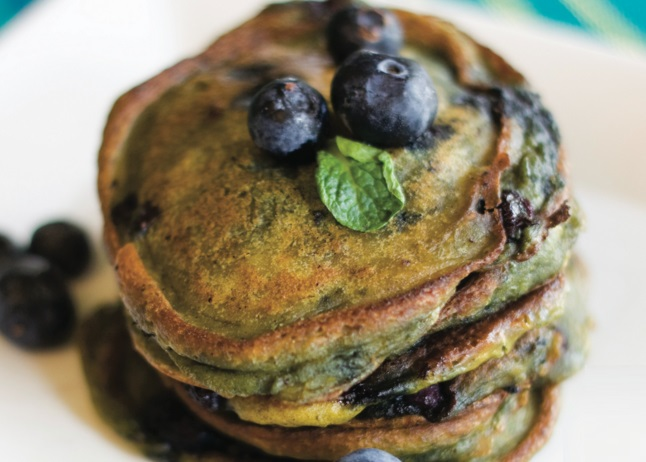 Pumpkin & Blueberry Pancakes