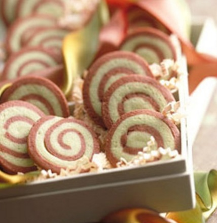 Chocolate Mint Pinwheels