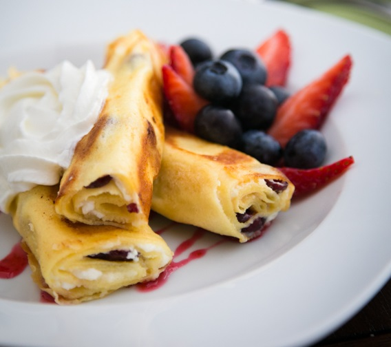 Russian Crepes with Cheese