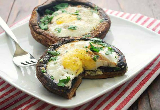 Egg Stuffed Mushrooms