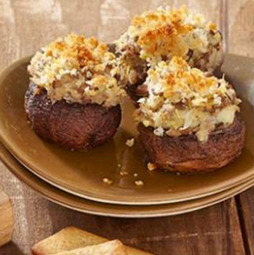 Artichoke & Parmesan Stuffed Mushrooms