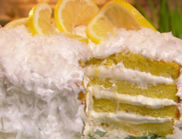 Lemon & Coconut Torte