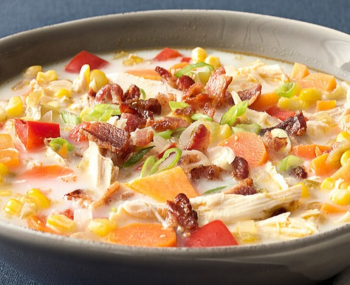 Smoky Turkey & Bacon Chowder Soup