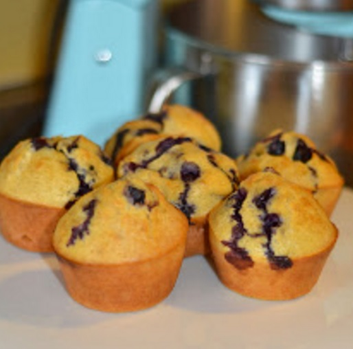 Sourdough Blueberry Popovers