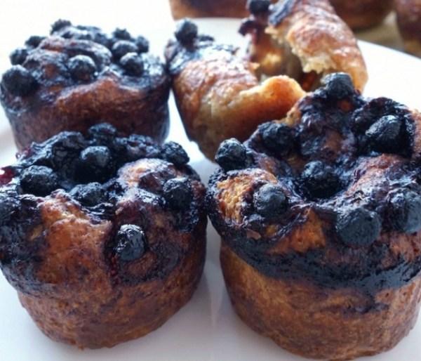 Vegan Mini Blueberry Popovers