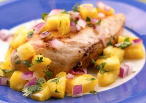 Island Chicken with Pineapple Salsa