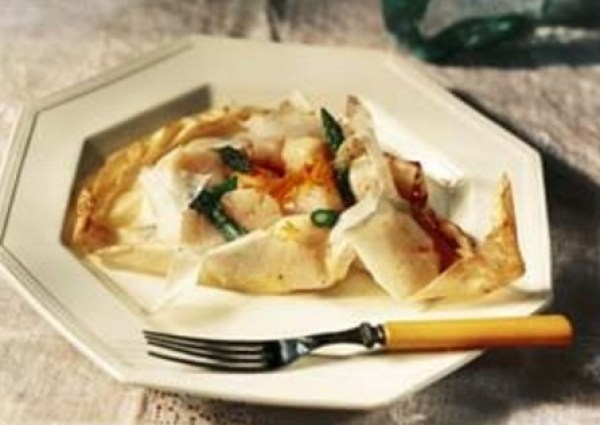 Parchment-Baked Scallops