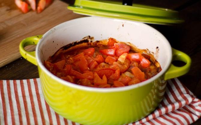 Tomato Baked Scallops