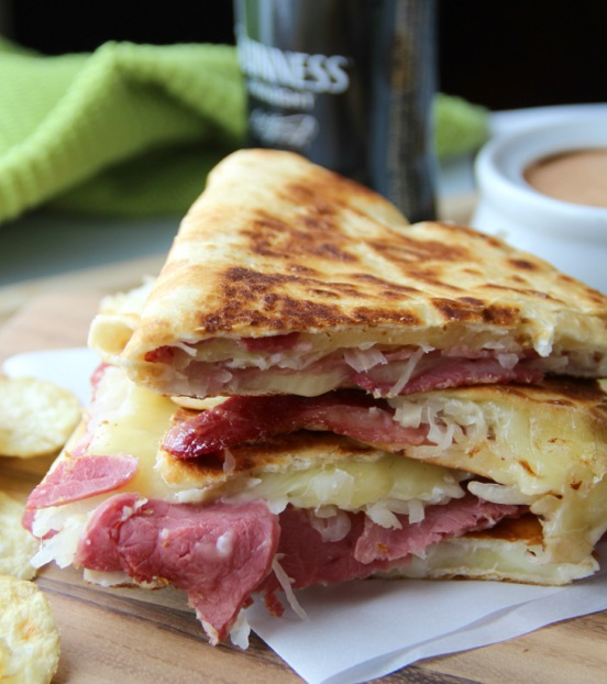 Corned Beef and Cabbage Quesadillas