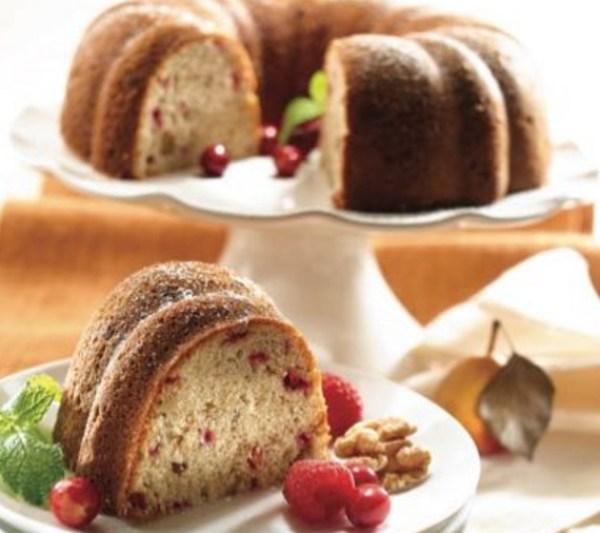 Cranberry & Walnut Pound Cake