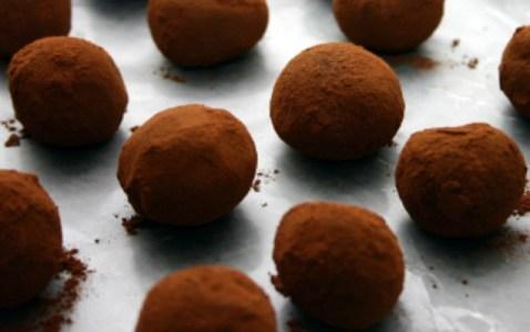 Bittersweet Chocolate Cashew Truffles