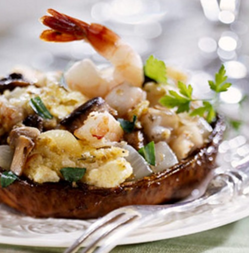 Shrimp-Stuffed Portobello Mushrooms