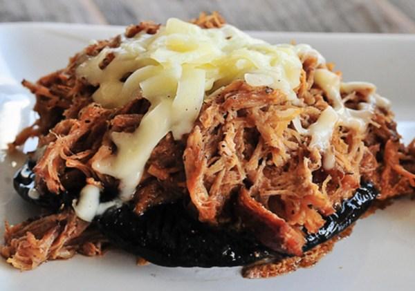 BBQ-Stuffed Portobello Mushrooms