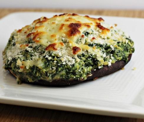 Spinach and Artichoke-Stuffed Portobello Mushrooms