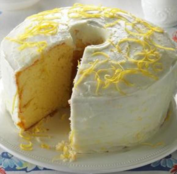 Traditional Lemon Chiffon Cake
