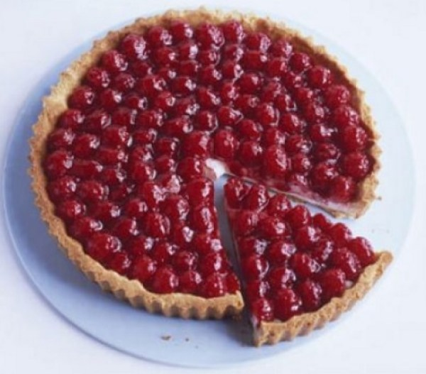 Raspberry Tart With Almond Pastry