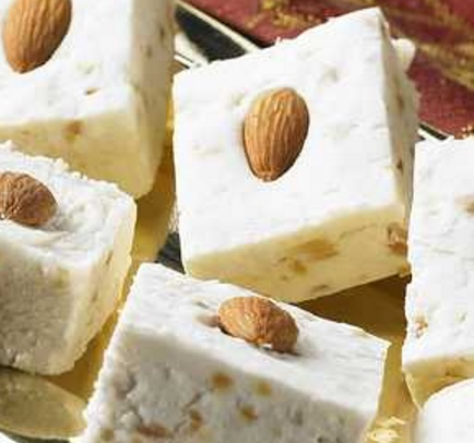 French Vanilla Fudge With Almonds