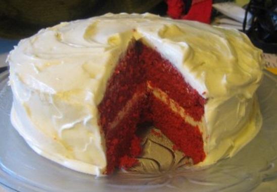 Red Velvet Devil's Food Cake