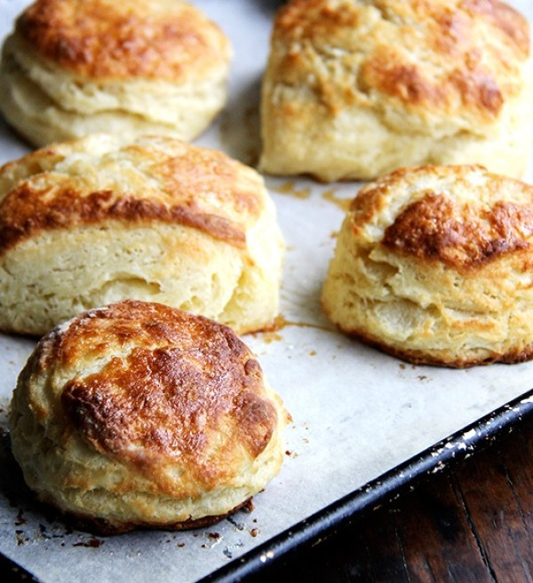 Buttermilk Biscuits With Maple & Sea Salt