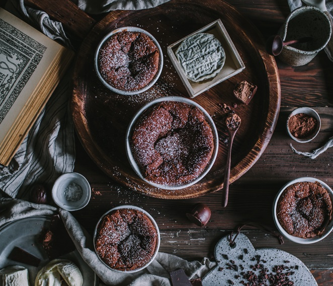 Chocolate & Goat Cheese Souffle