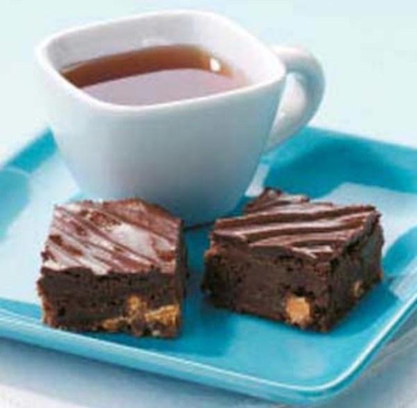 Dark Chocolate Butterscotch Brownies