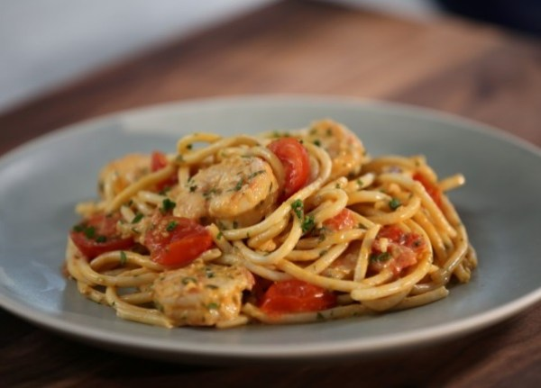 Shrimp Scampi with Cherry Tomatoes