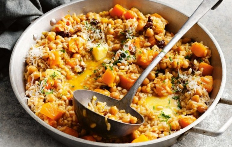 Pumpkin, Chickpea & Raisin Risotto